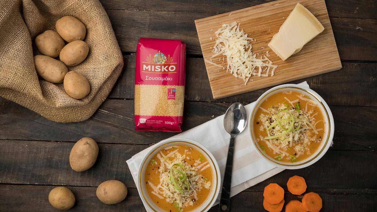 Βελουτέ σούπα λαχανικών με σουσαμάκι_MISKO_1