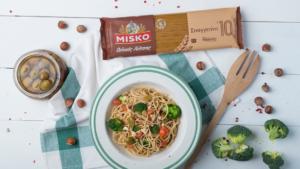 Σπαγγετίνη ολικής άλεσης με μπρόκολο και πράσινες ελιές_MISKO_2