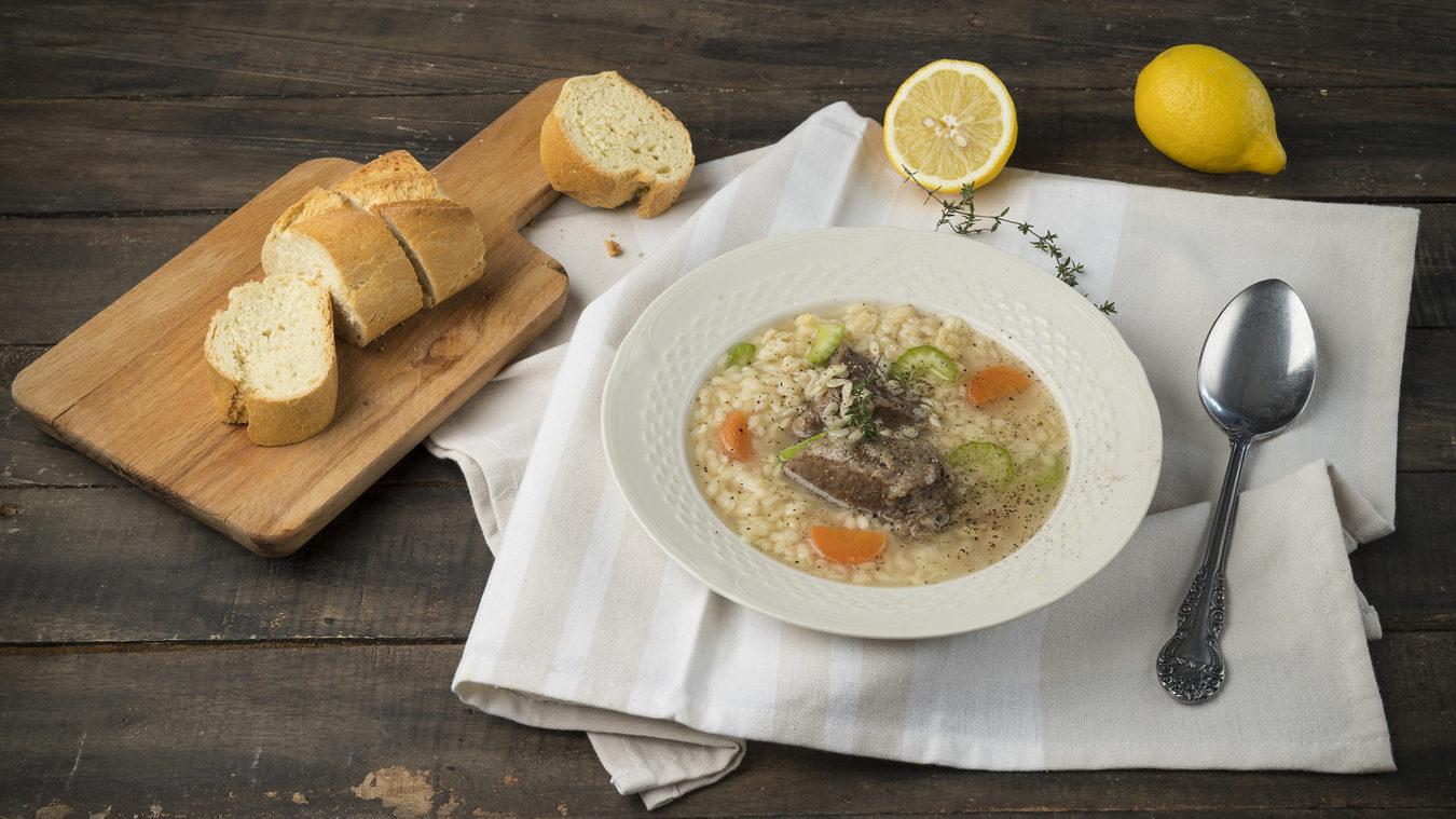 Σούπα πεπονάκι με κρέας αυγολέμονο _MISKO